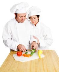 Chefs Chop Vegetables