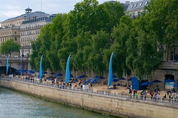 Summer beach in Paris