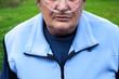 Elderlay woman with oxygen suplement (COPD) - 72429500
