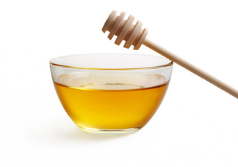 Honey in glass bowl