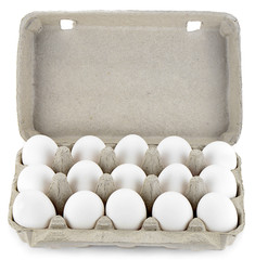 Pack of White Eggs