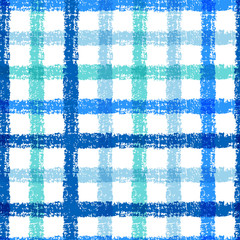 Seamless pencil sketch plaid pattern with colorful stripes. Vect