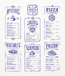 Menu template. Blue pen drawing - 72432354