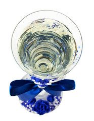 wedding glass isolated on the white background