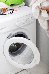 Woman do washing