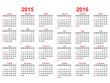 2015 and 2016 years calendar - 72434994