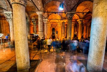 ISTANBUL - SEPTEMBER 16: Underground Basilica Cistern, September