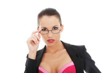 Businesswoman underwear