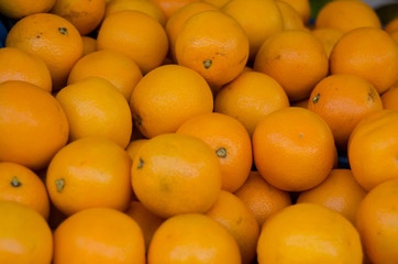 Bunch of Oranges for sale at an outdoor market