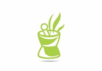 herbal pharmacy, logo, nature, leaf, green, clean, healt