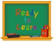 Chalk board, green, Ready to Learn, eraser, daycare, preschool