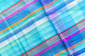 Colorful line patterned fabrics texture background