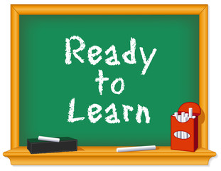 Chalk board, green, Ready to Learn, eraser, daycare, preschool