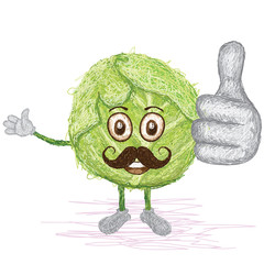 green cabbage mustache cartoon
