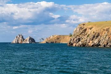 Shaman Rock, Lake Baikal in Russia.