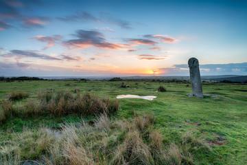 The Longstone on Bodmin Moorin Cornwall