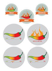 Chili Spice meter sticker seal set