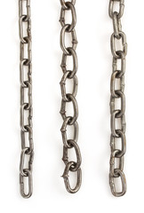 metal chain on white