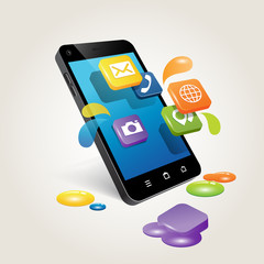 phone with apps  ( slopped applications )