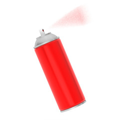 Blank Aluminum Red Spray Can