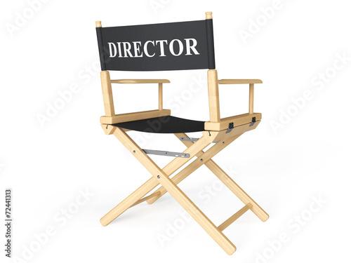 Leinwandbild Motiv Cinema Industry Concept. Directors Chair