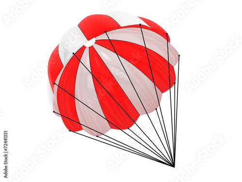 Red and White parachute - 72441351