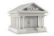3d concrete Bank Building - 72441562