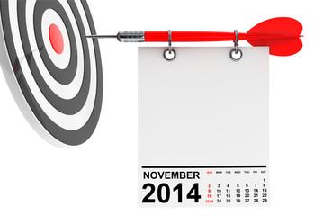 Calendar November 2014 with target