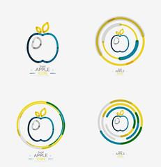 Apple logo concept, stamp