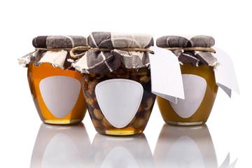 Three honey jars