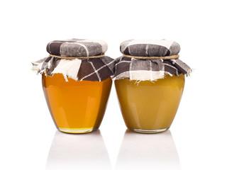 Two meadow honey jars