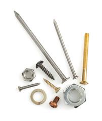 hardware tools on white