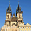 Tyn Church. stands in the center of  Prague.