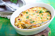 Cabbage and bacon gratin