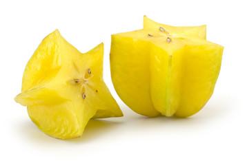 Yellow Carambola - Star fruit isolated on white background