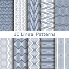 set of ten lineal patterns