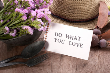 Do what you love card.