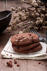 Chocolate cookies.