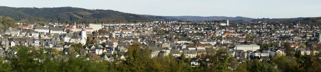 Panorama von Arnsberg im Sauerland, NRW, Deutschland