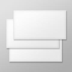 Set of Blank Envelopes on Gray Background.