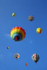 沢山の熱気球