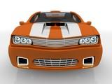 Fototapety Orange car