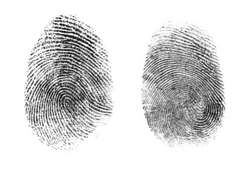 fingerprint or thumbprint set isolated
