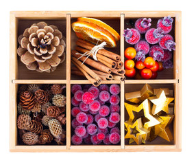 Beautiful packaged Christmas decoration, close up