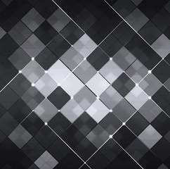 Black and White Abstract Technology Background