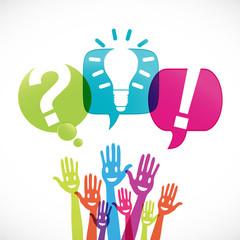 groupe mains : question idée réponse