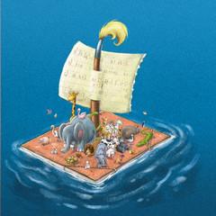 animales en barco