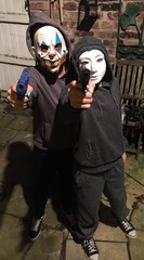 scary masked guns