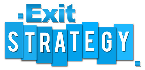 Exit Stragety Blue Stripes