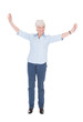 Senior Woman With Arms Outstretched
